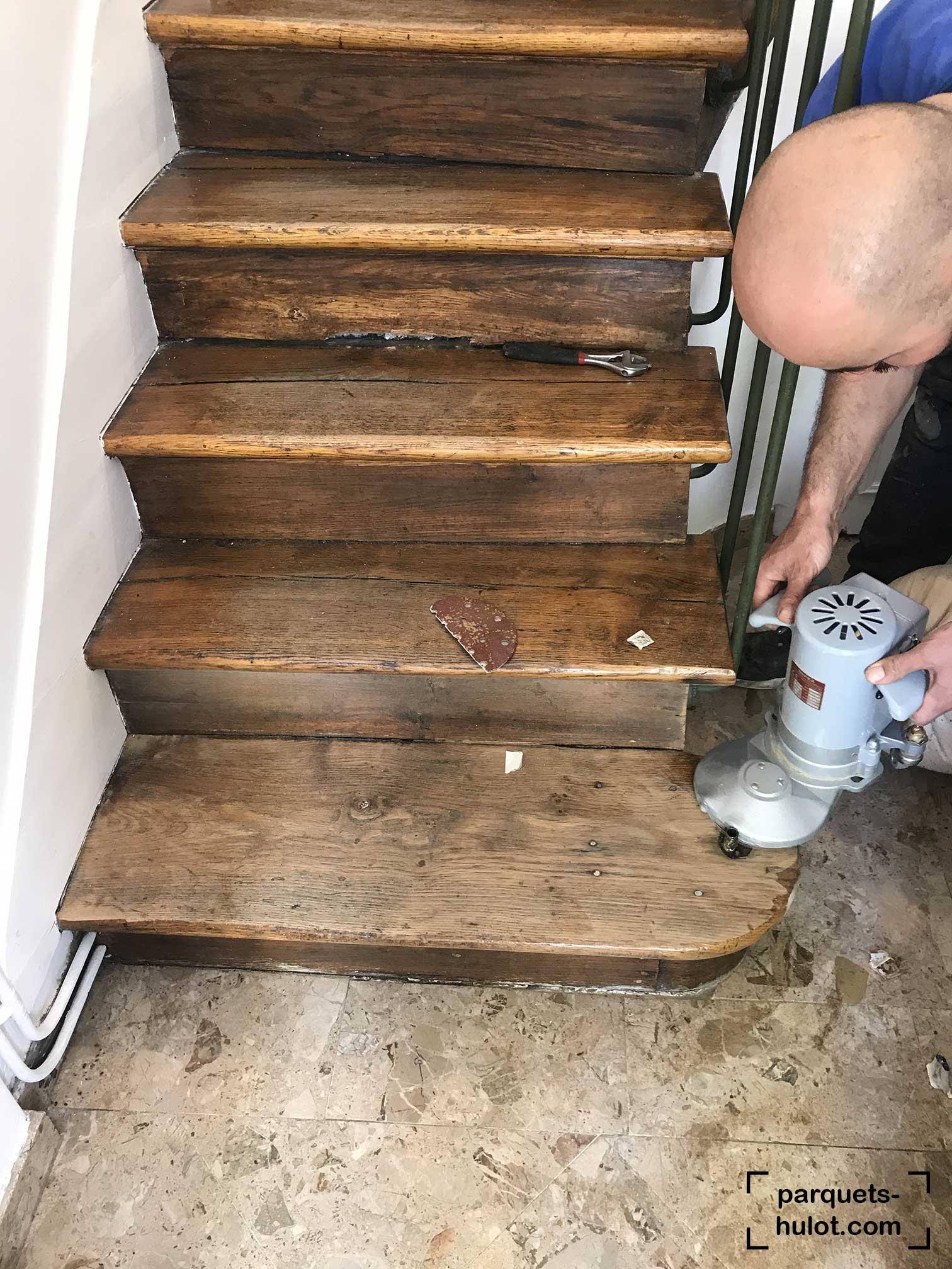 rénovation peinture escalier Joinville